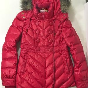 Juicy Couture Red Puffer Coat Size Small